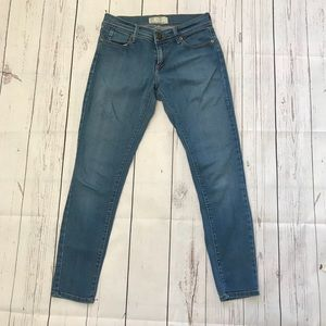 Free People Blue Skinny Ankle Jeans Size 26